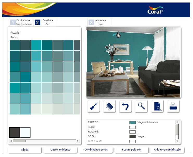 Simulador de ambientes da coral constru o e design for Simulador de casas