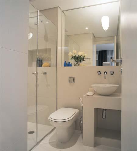 banheiro pequeno e simples decorado