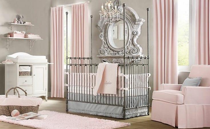 dormitorio de bebe menina classico