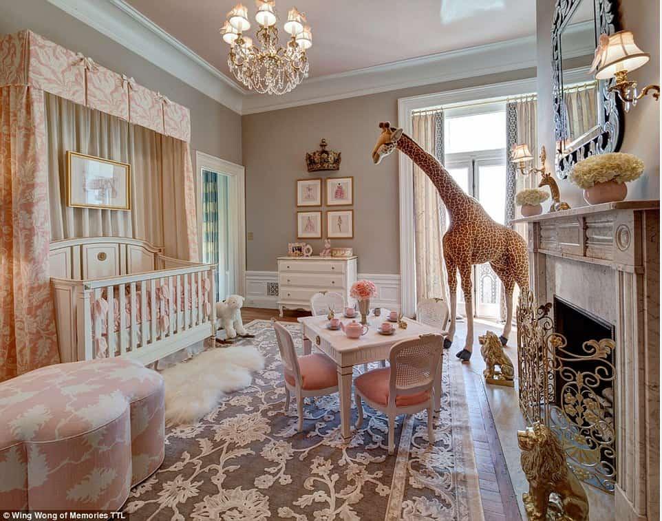 quarto de bebe menina de princesa animais