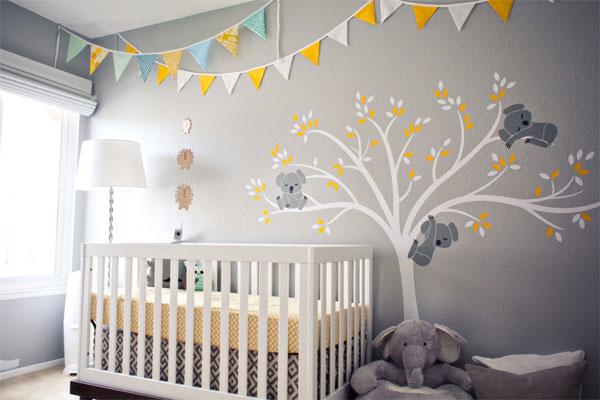 quarto de bebe simplex e moderno