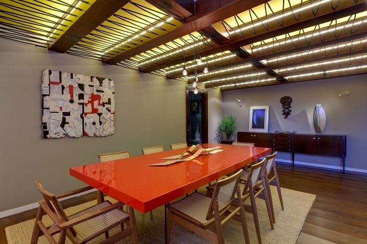 Salas de jantar decoradas 25 modelos ideias e fotos for Sala rustica moderna