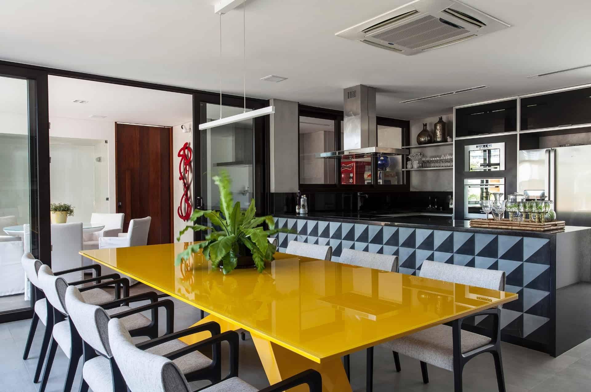 Sala De Jantar Integrada Com Cozinha Americana Excellent Sala Com