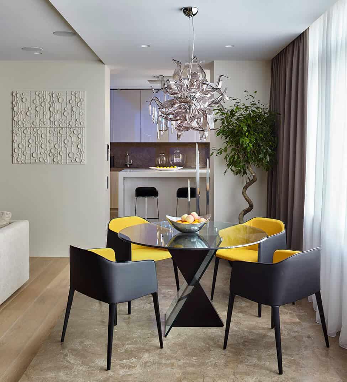 Salas de jantar decoradas 25 modelos ideias e fotos for Sala de estar sala de jantar