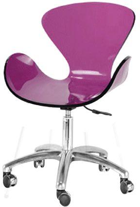 cadeira swan acrilico roxo