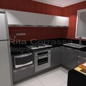 Projeto de cozinha para casal jovem