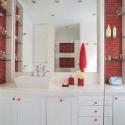 Armários funcionais e bonitos para banheiros
