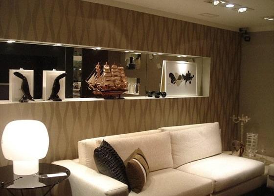 Salas com papel de parede +12 FOTOS e Ideias para Decorar