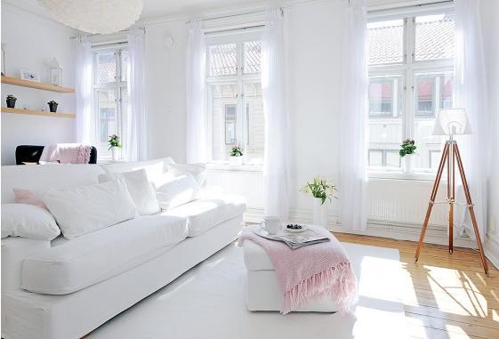 Sala De Estar Branca E Rosa ~ sala branca delicada