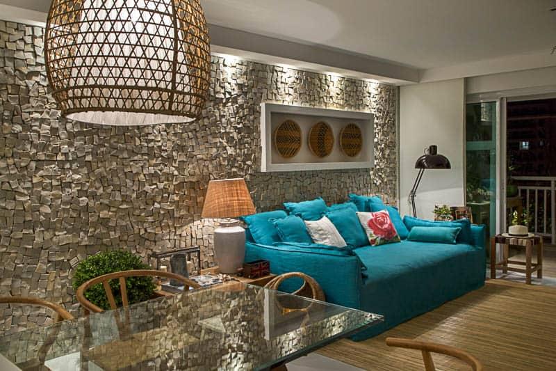 04 sofa azul na decoracao moderna