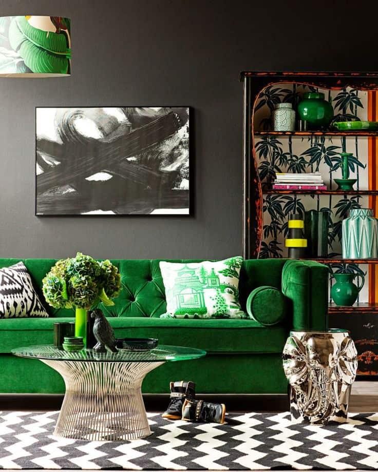 08 sofa verde folha na decoracao