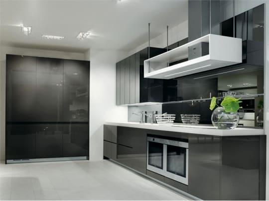 Cozinhas preto e branco fotos modelos dicas e ideias - Modern kitchen cabinets design 2013 ...