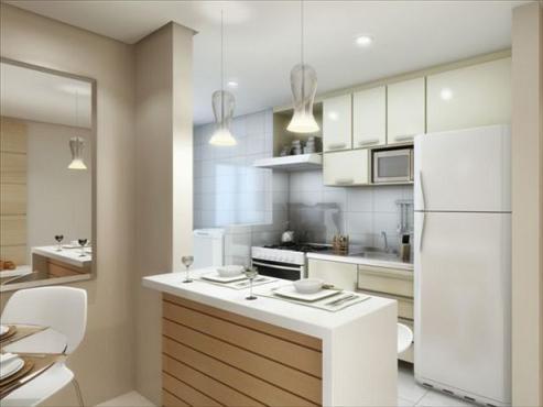 Cozinha modulada para apartamento alugado