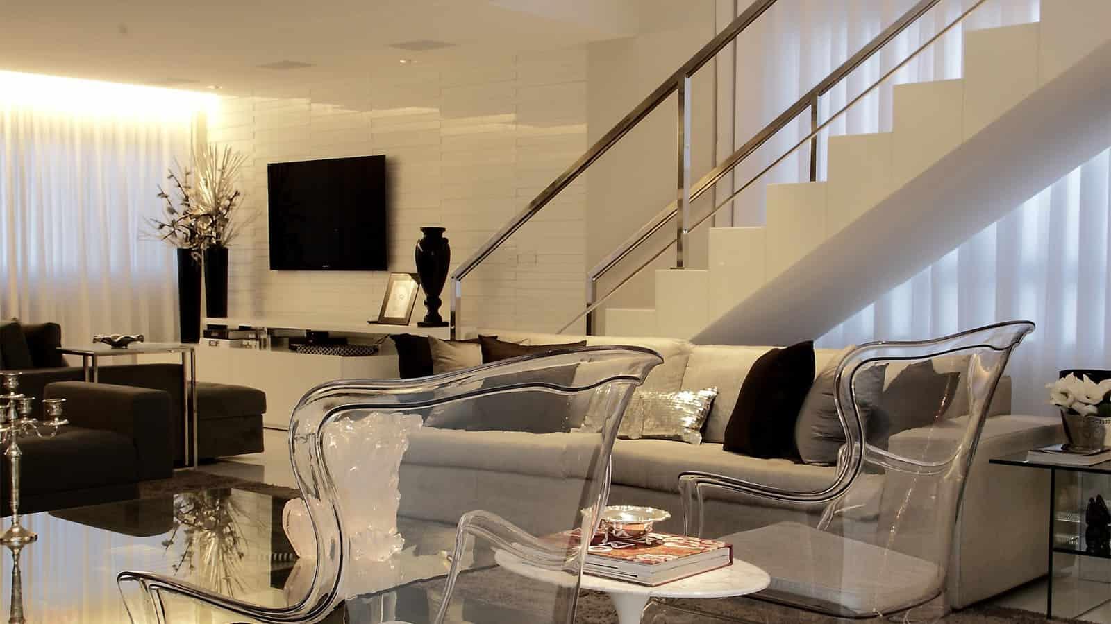 14 fotos decora o preto e branco para sala de estar - Tom interiores ...
