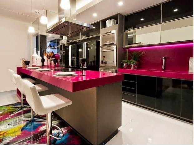 08 cozinha pequena americana e colorida