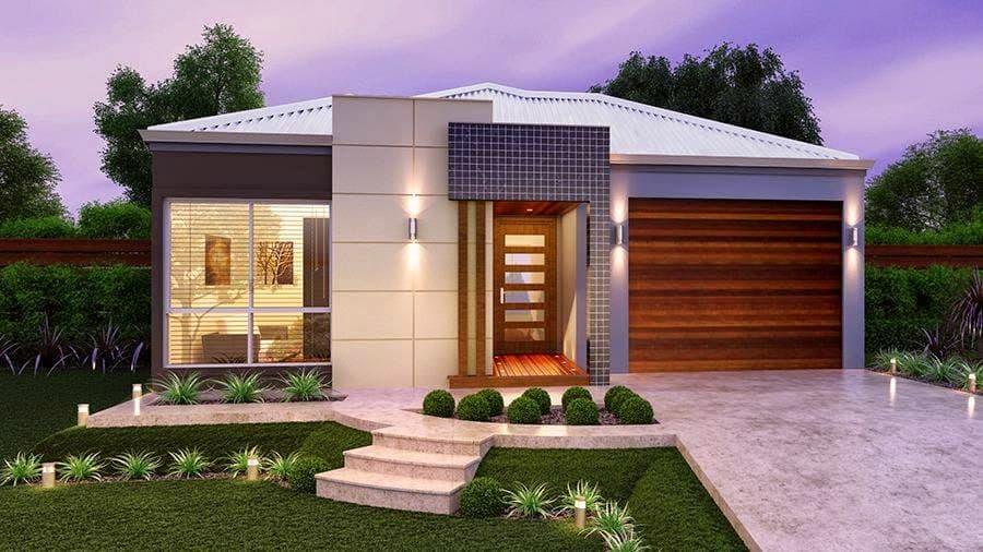 17 ideias de fachada para casas pequenas veja fotos for Casas modernas 4 aguas