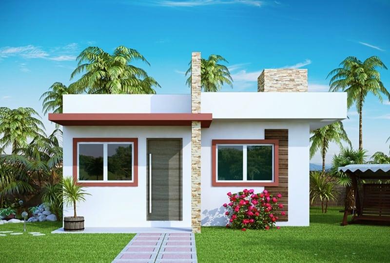 17 ideias de fachada para casas pequenas veja fotos for Casas modernas simples