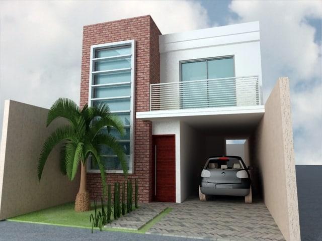 15 ideias de fachadas para sobrados pequenos e duplex fotos for Modelos de casas fachadas fotos