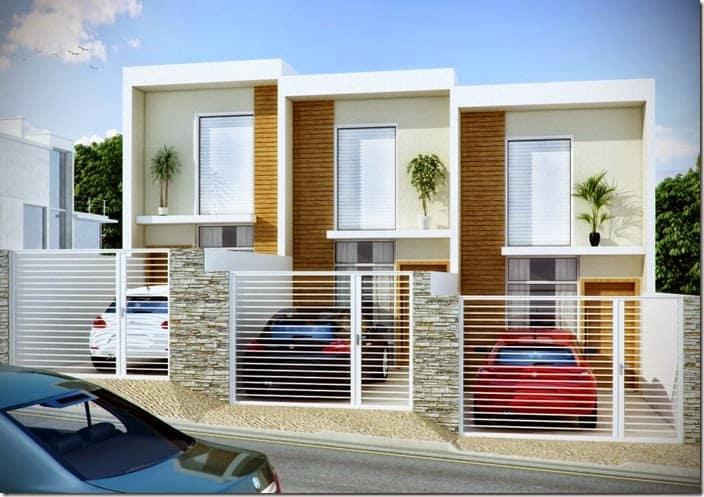 15 ideias de fachadas para sobrados pequenos e duplex fotos for Fachadas para departamentos pequenos