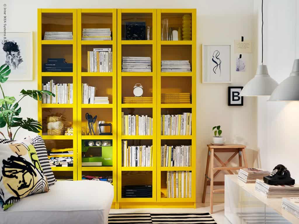 07 estante pintada de amarelo reformar