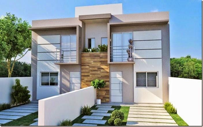 15 ideias de fachadas para sobrados pequenos e duplex fotos for Casas duplex modernas