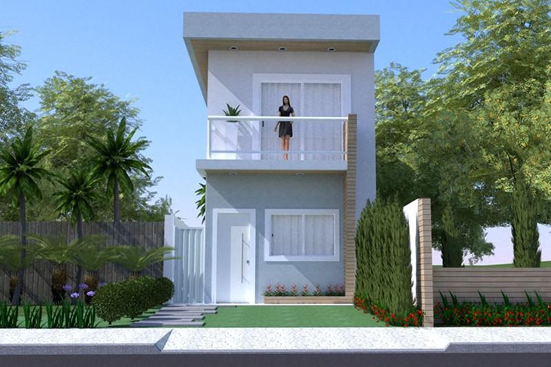 15 ideias de fachadas para sobrados pequenos e duplex fotos - Casas super pequenas ...