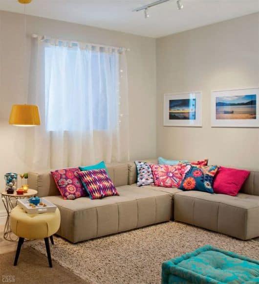 Sala De Estar Linda E Barata ~ 25 ideias para usar sofá de canto e dicas para escolher e decorar
