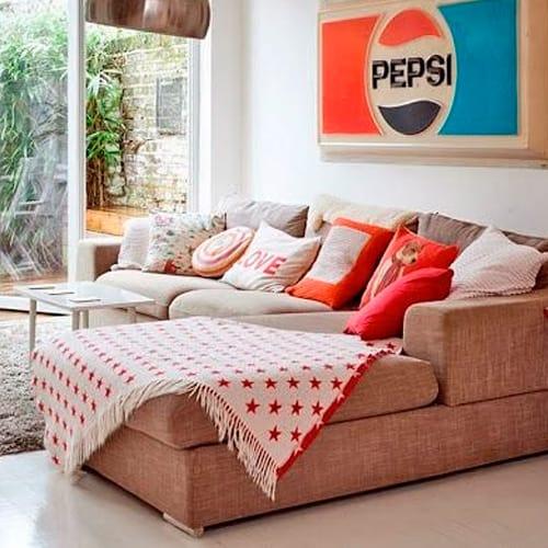 Sof s de canto 25 dicas para escolher e decorar fotos for Manta no sofa como usar