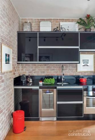 02 tijolo a vista na cozinha rustico e moderno