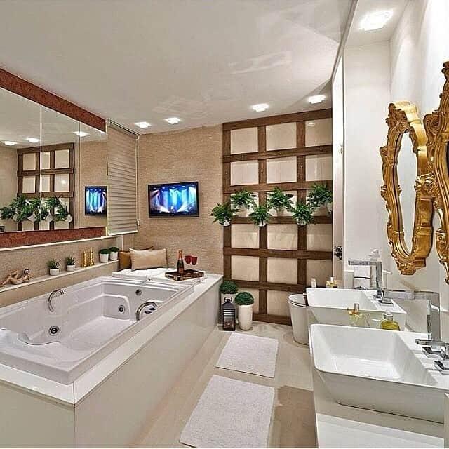 07 banheiro com banheira moderno e elegante