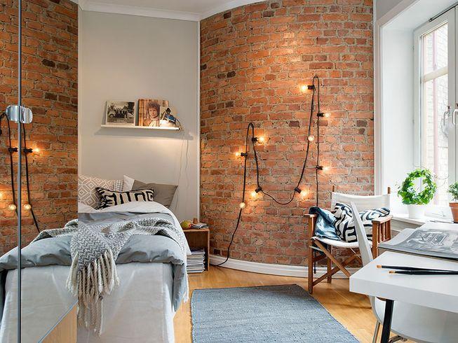 07 quarto com parede de tijolo a vista solteiro