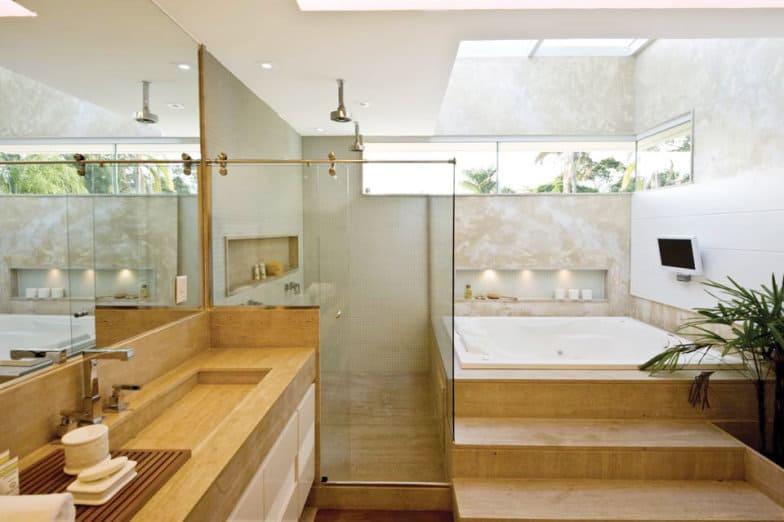 BANHEIROS COM BANHEIRAS 25 Ideias, Fotos, Projetos -> Banheiros Com Banheiras Redondas