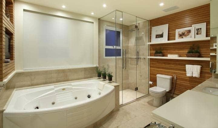 09 projeto de banheiro moderno com design diferent