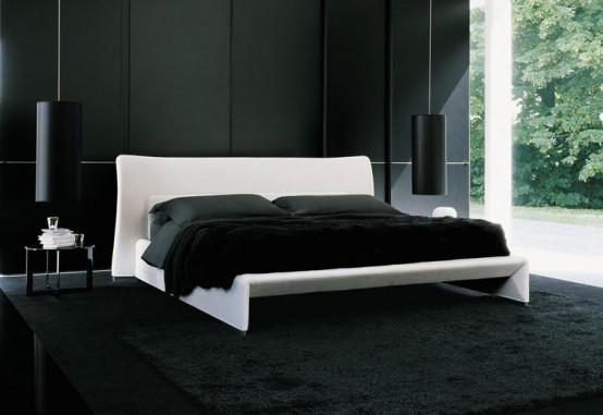 12 quarto com piso preto como usar