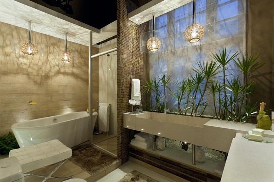 BANHEIROS COM BANHEIRAS 25 Ideias, Fotos, Projetos -> Banheiro Moderno Casal