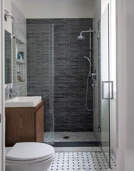 7 revestimentos pretos para banheiro e cozinha modelos e for Salle de douche 2m2