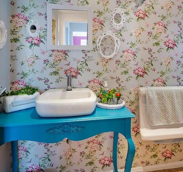 16 Ideias de Decoração com móvel colorido no banheiro Fotos # Pia Movel Banheiro
