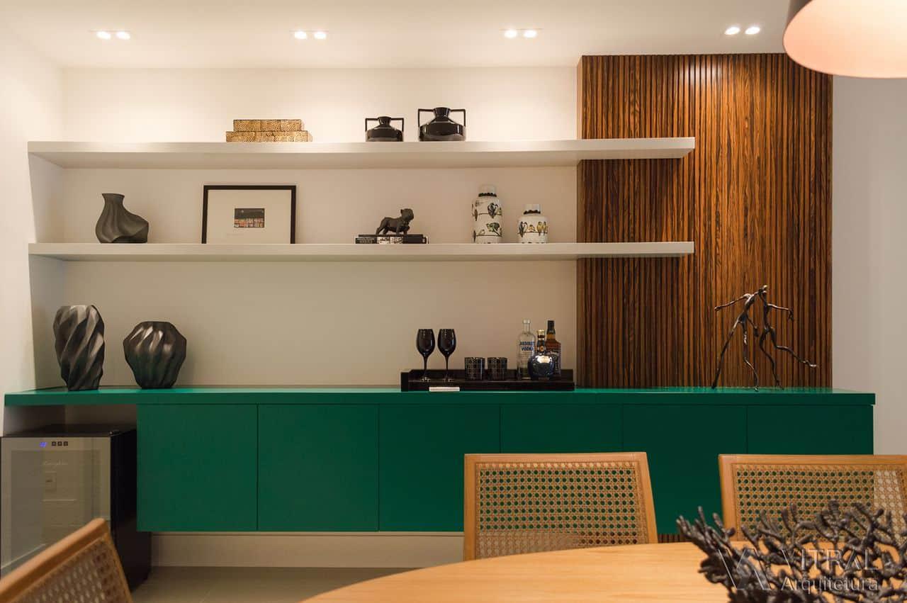Aparador Sala De Jantar ~ 20 imagens de ideias para utilizar verde na decoraç u00e3o