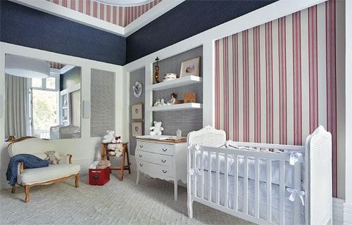 Quarto de bebe menino azul e vermelho