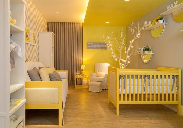 quartinho de bebe amarelo unissex