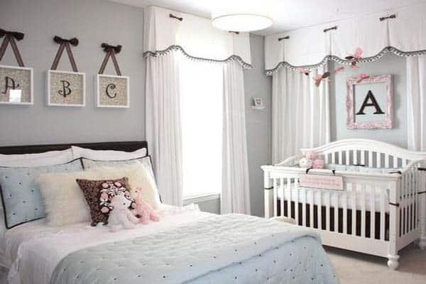 quarto de bebe com casal decoracao