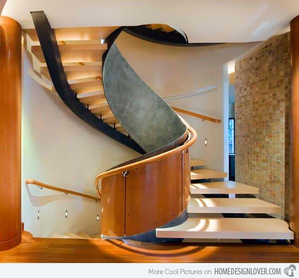 Escada redonda contemporanea
