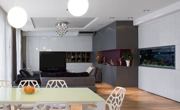 sala-de-estar-e-jantar-moderna-com-aquario