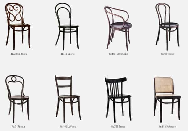 modelos de cadeira thonet