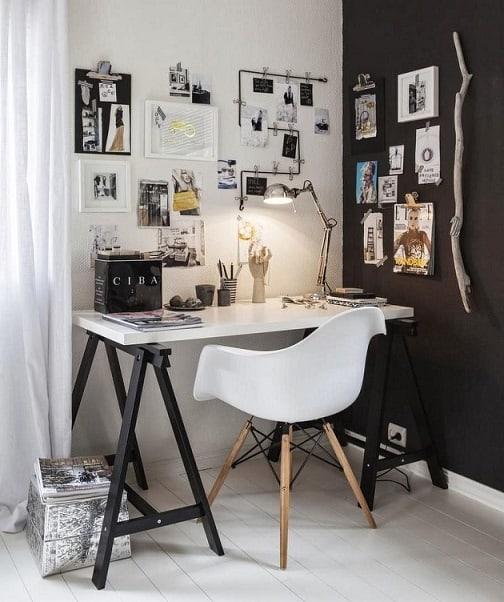 escritorio-preto-e-branco-com-decoracao-moderna