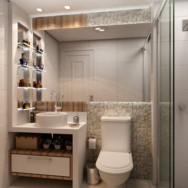 banheiro pequeno com movel diferente