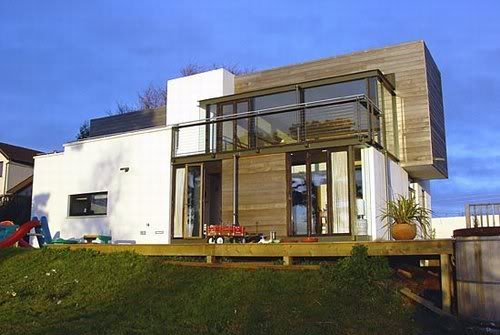 fachadas de casas modernas com madeira