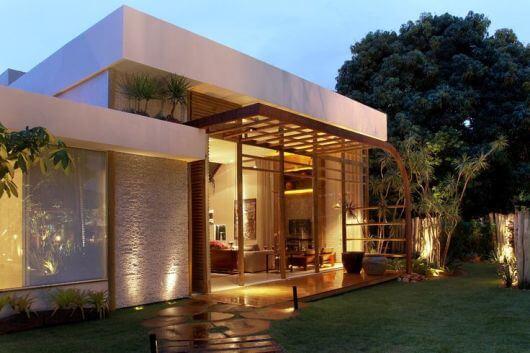 casa moderna pequena