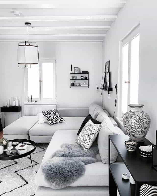 decoracao preto e branco elegante