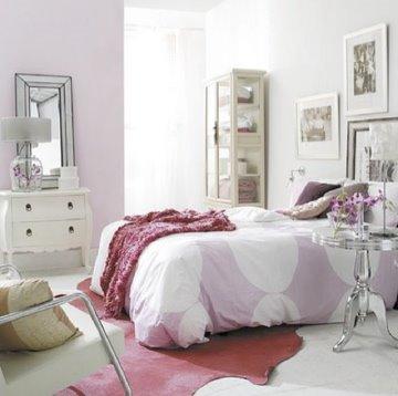 quarto de menina rosa e vintage